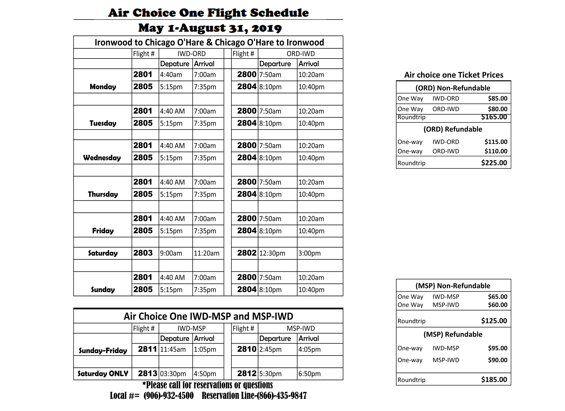Air-choice-one-schedule-and-pricing